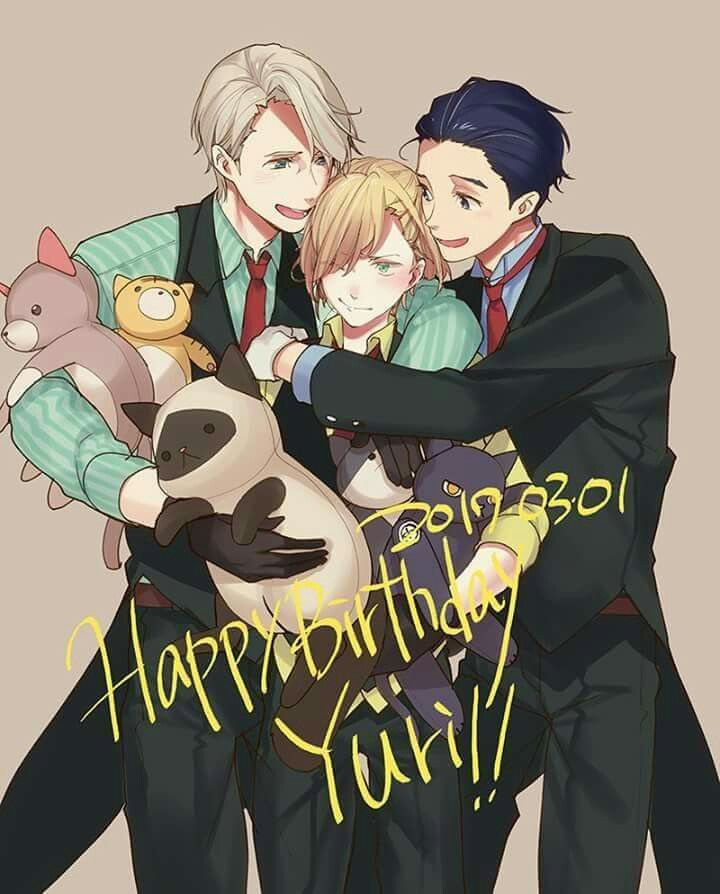 Late but happy birthday Yurio!!♡♡♡