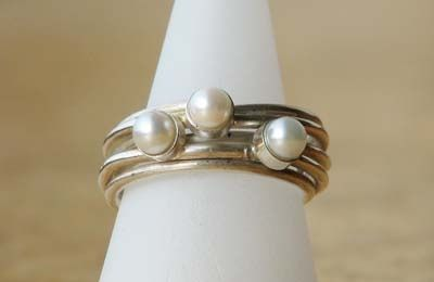 ring met parels