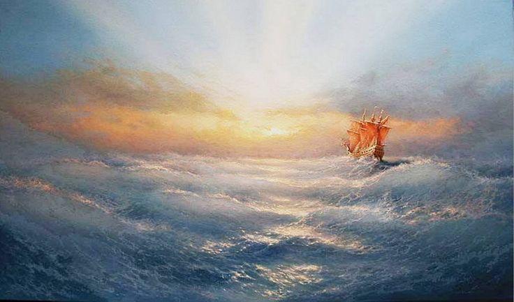 olas-barcos-paisajes-mar-oleos
