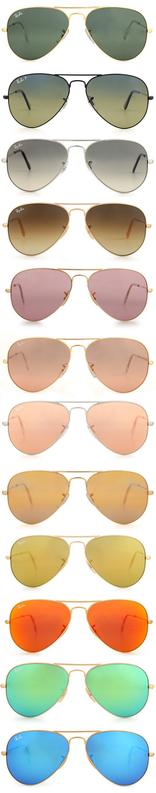 Follow the Ray-Ban Rainbow http://www.framesdirect.com/framesfp/RayBan-sdpes/lb.html #aviators #rayban #sunglasses