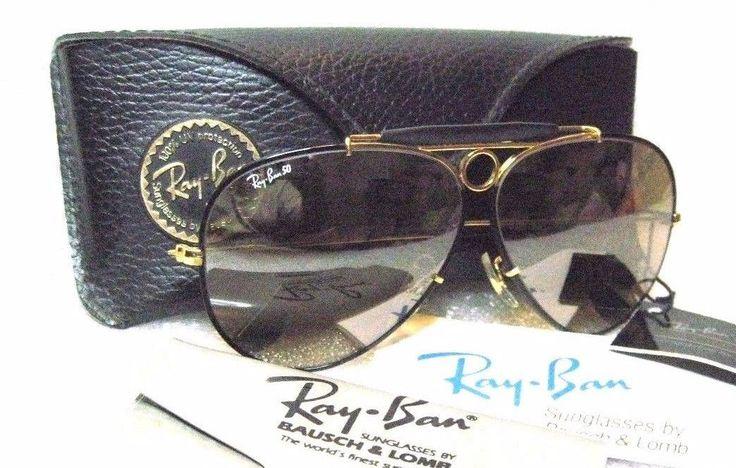 "RAY-BAN *NOS VINTAGE B&L AVIATOR ""PRECIOUS METALS"" *RB-50 GENERAL NEW SUNGLASSES"