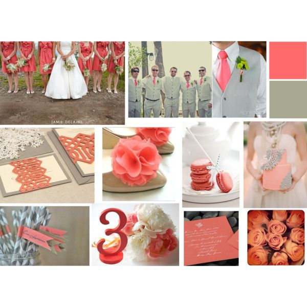 Coral and Grey Inspiration via Just Wenderful