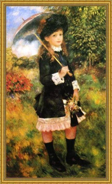 renoir - giovinetta con ombrello