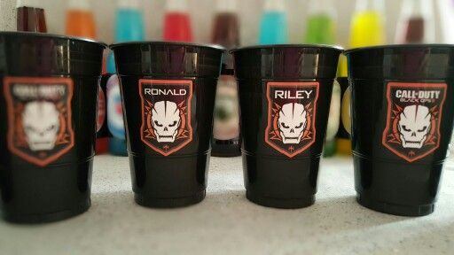 Call of Duty Black Ops III Birthday Party Cups