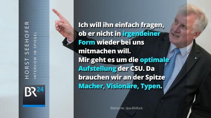 Lockrufe von #Seehofer an zu #Guttenberg: http://www.br.de/nachrichten/seehofer-merkel-interview-100.html…