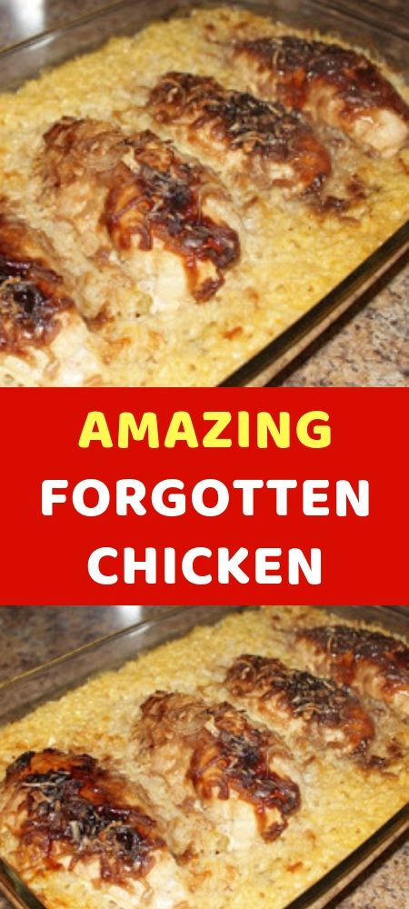 AMAZING FORGOTTEN CHICKEN What's On Your Dinner Menu This Week? Try One Of The…