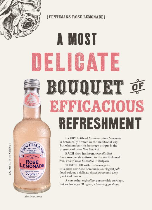 The Sell! Sell! Blog: Efficacious New Print Work For Fentimans