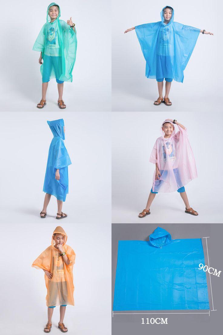 [Visit to Buy] Disposable Children Poncho Raincoat Waterproof Transparent Kids capa de chuva infantil menino Rainwear Camping Pluie Rain Coat #Advertisement