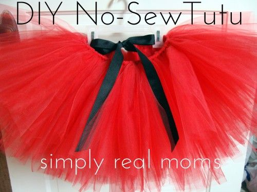 How to Make Adorable and Easy No Sew Tutu Skirt