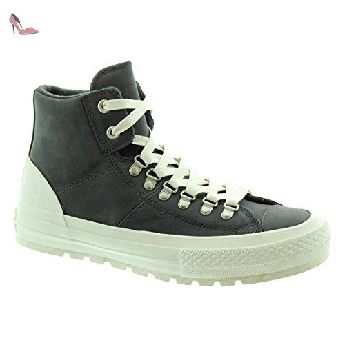 Converse Leder Chucks 153666C AS Street Hiker Almost Black/Egret/Ash Gray Schwarz, Groesse:42.5 EU / 8 UK / 9 US - Chaussures converse (*Partner-Link)