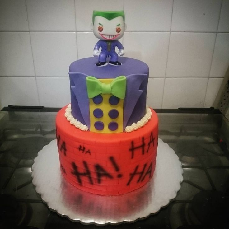 The Joker cake #bake #cake #pastel #fondant #PJcakes #joker - chuypedrazam