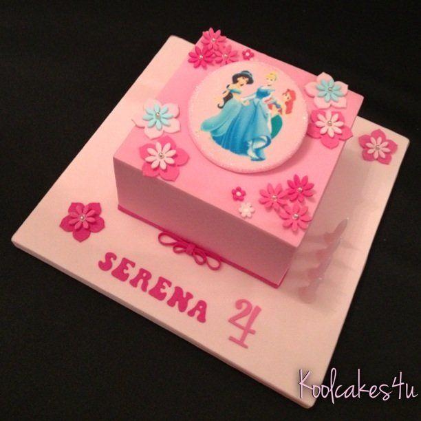 Very Pink Princess Square Birthday Cake Cakes Amp Cake