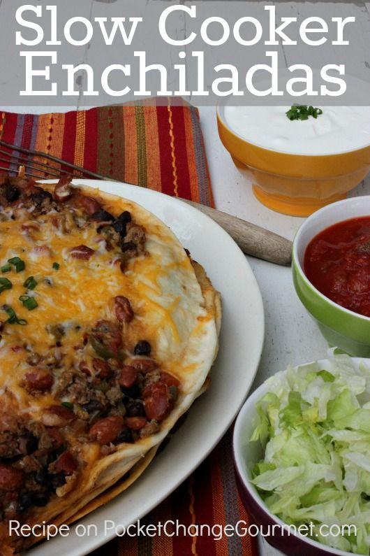 Slow Cooker Enchiladas – 100 Days of Summer Slow Cooker Recipes