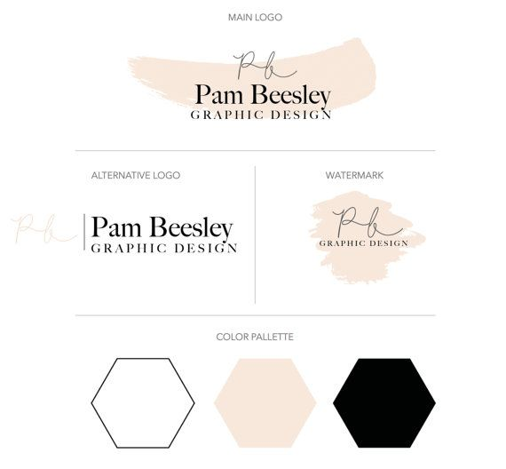 Premade Business Branding Kit - Premium Branding Package - Watercolor Logo - Business Logo - Minimalist Logo Design - Mini Branding Package $45