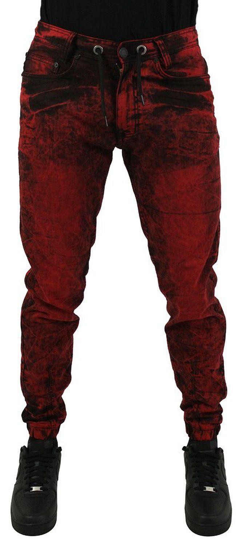 Jordan Craig Men's Robin Denim Slim Joggers Jeans Pants Red Size 38x32 at Amazon Men's Clothing store: