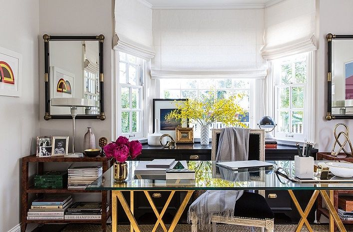 Designed by Alex Reid from The Studio at One Kings Lane for Marlien Rentmeester, a fashion blogger, this Los Angeles office just screams ...
