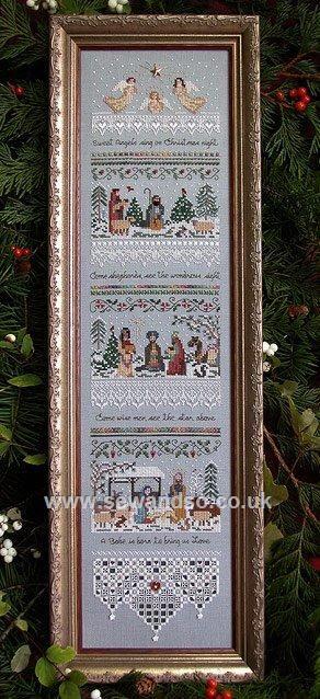 Buy+87+-+Heirloom+Nativity+Sampler+Chart+Leaflet+Online+at+www.sewandso.co.uk