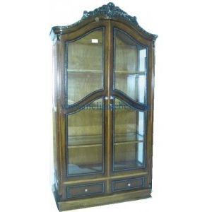 Lemari Pajangan Kaca Jati Minimalis – kali ini kami menawarkan produk lemari hias minimalis dengan model yang bisa di katakan antik.