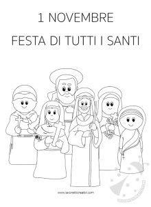 1 Novembre Festa di Tutti i Santi disegno