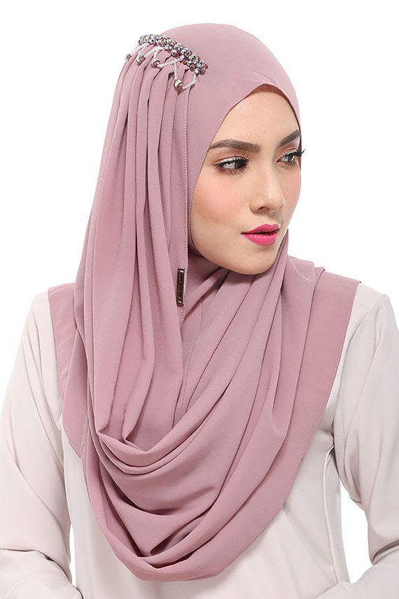 Instant Hijab/Slip On ZARISA Aida Naim Instant Shawl By by clixy