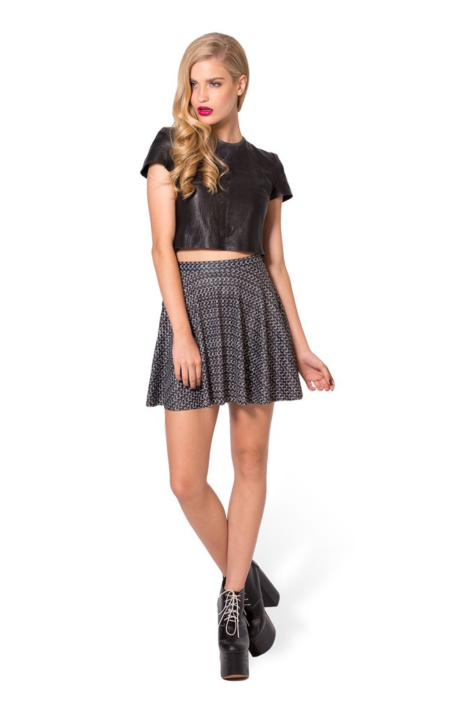 Chainmail Skater Skirt (48HR) by Black Milk Clothing $50AUD