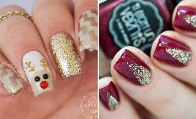 Easy Winter and Christmas Nail Ideas