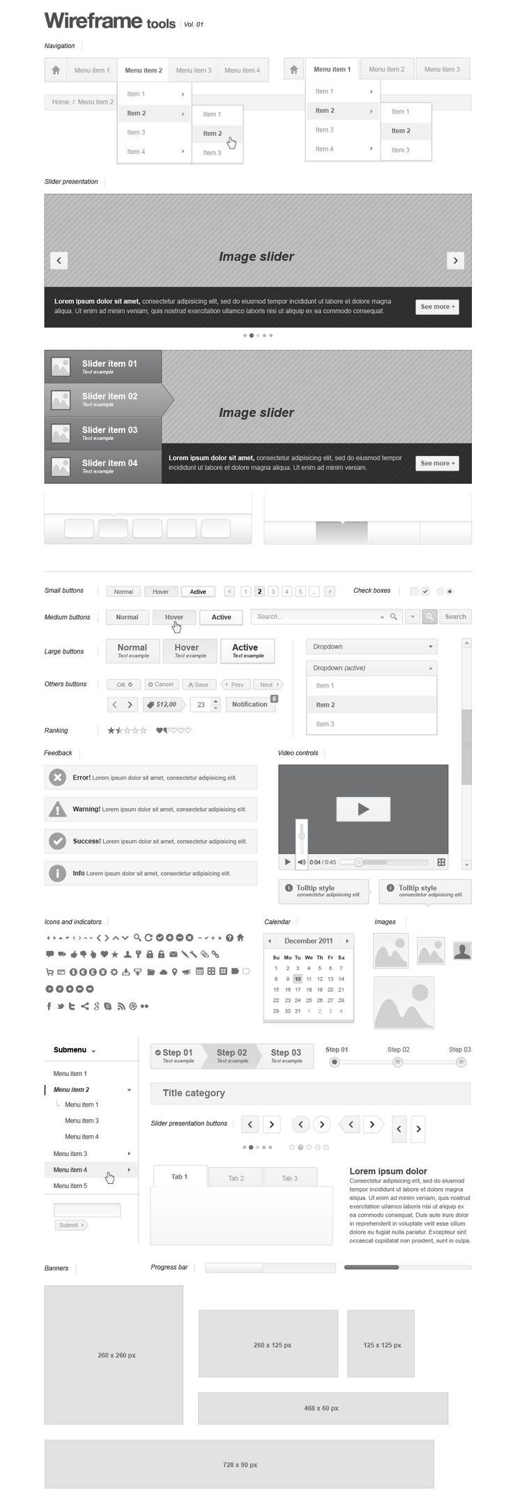 Webpage Wireframe Stencil | Web Wireframing | Pixeden