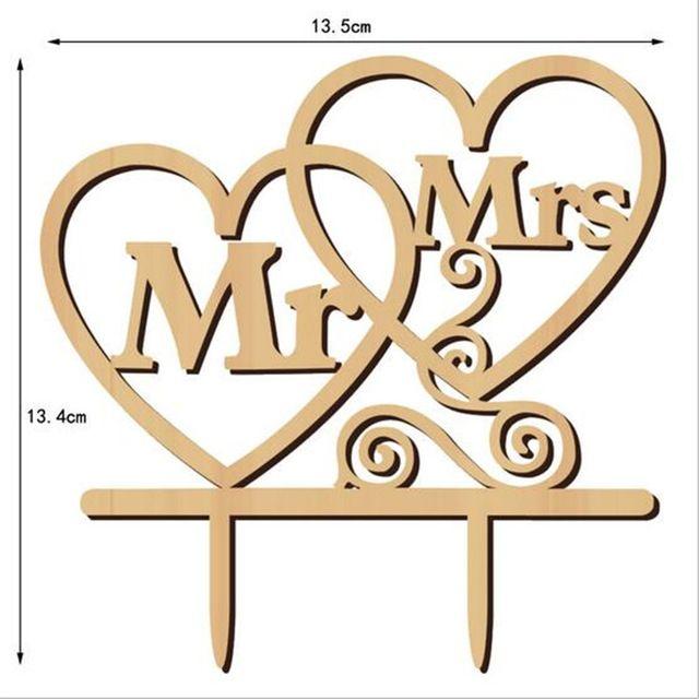 1 unids/set 13X15 cm Pastel de Mr y Mrs Topper Pastel de Bodas Topper Pastel de bodas Decoración de Favores de Fiesta Regalos de Compromiso