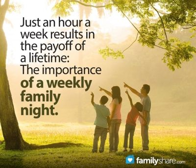 Just an hour a week results in the payoff of a lifetime: The importance of a weekly family night