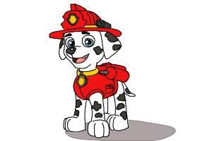 How to Draw Marshall from Paw Patrol.Grab the chance to do the free steps on how to draw Marshall from paw control. Marshall is a member of the Paw control having the characteristics like a Dalmatian dog. His gender is a male. He portrays the role of a fire pup who happens to be always silly and most of the time clumsy. He maybe immature at times but he never gives up on his goals.Draw the shape of the head of Marshall. Create the primary features of his head. Sketch the forms of his ears…