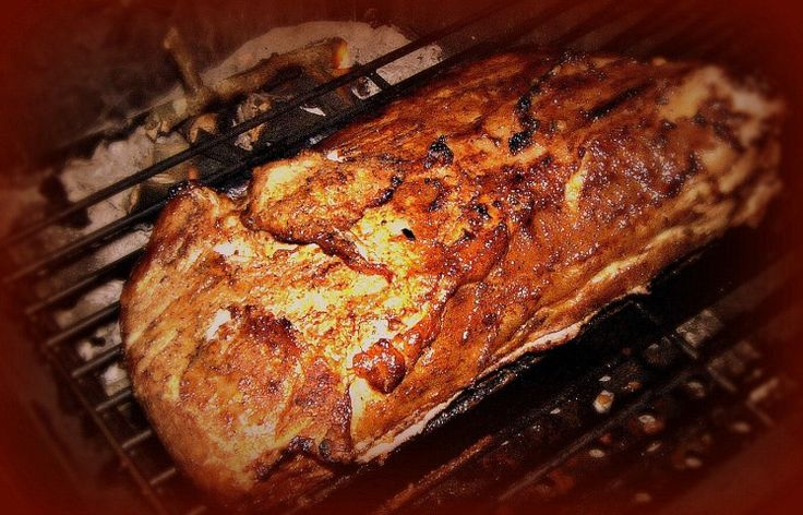 A 5-star recipe for Smoked Pork Loin made with apple cider vinegar, water, molasses, soy sauce, ketchup, brown sugar, hot pepper sauce