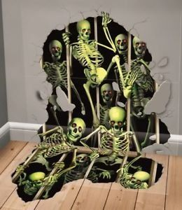 Deluxe Halloween Scene Setter Addon Skeleton Invasion Party Decoration Read More At The Image L Halloween Scene Setters Halloween Scene Halloween Party Decor