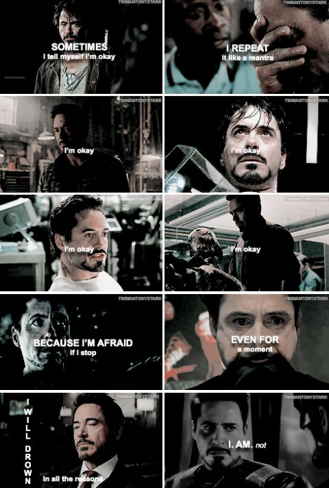 tony stark is not okay although he hides it well