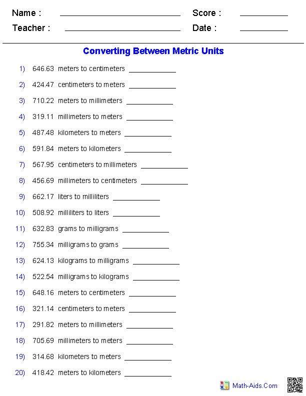 metric conversion quiz worksheets things i need to do measurement worksheets math. Black Bedroom Furniture Sets. Home Design Ideas