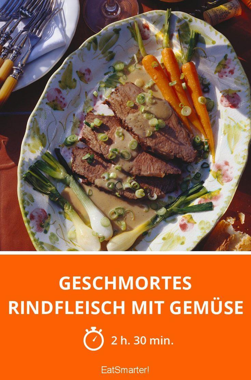 Geschmortes Rindfleisch mit Gemüse - smarter - Zeit: 2 Std. 30 Min. | eatsmarter.de