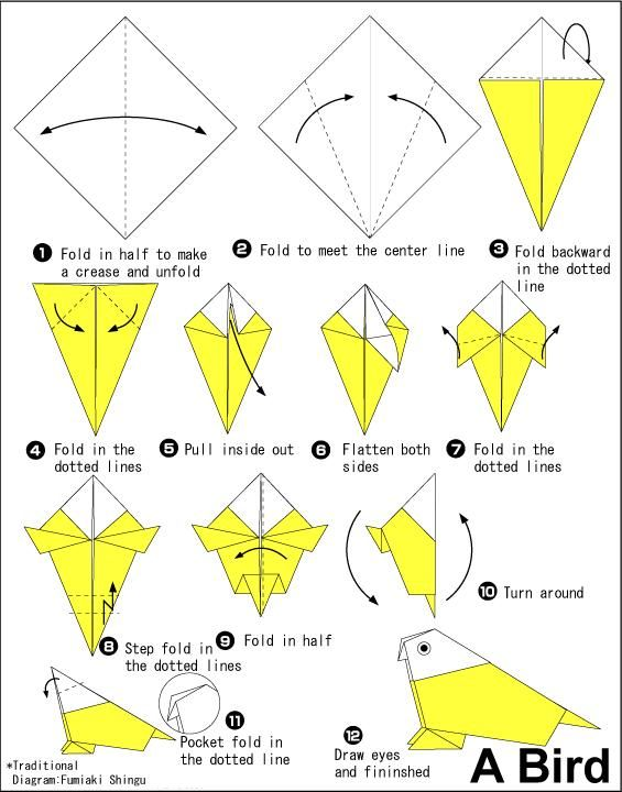 Image detail for -BIRD ORIGAMI INSTRUCTIONS « EMBROIDERY & ORIGAMI