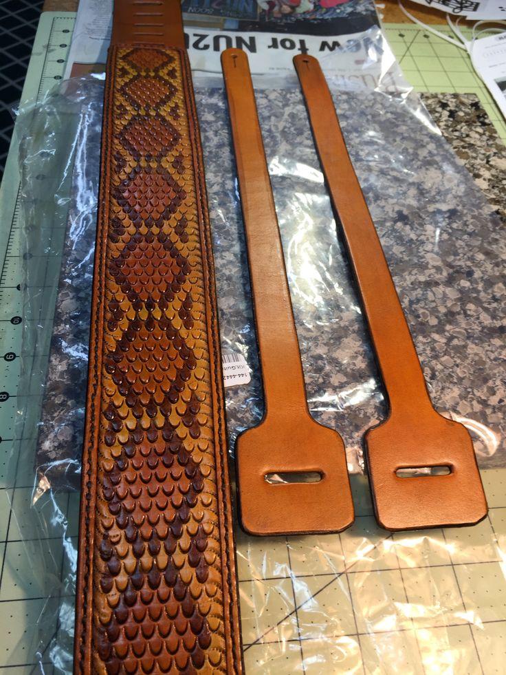 Rattlesnake skin patterned guitar strap