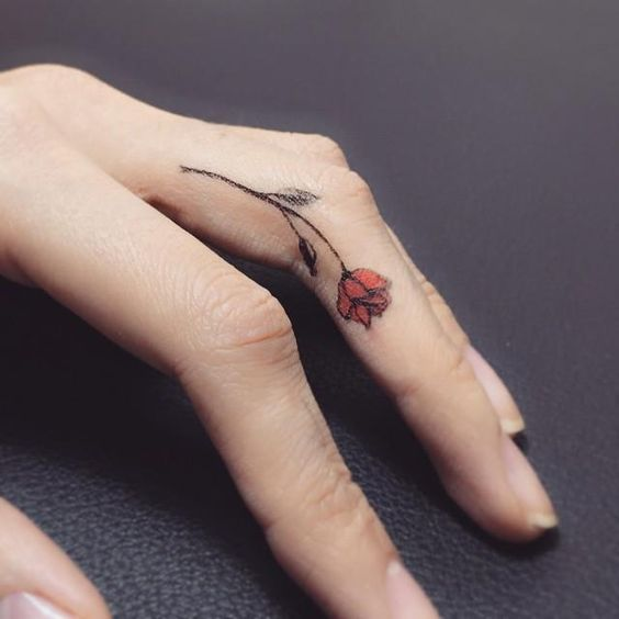 Best 25+ Flower Finger Tattoos Ideas On Pinterest