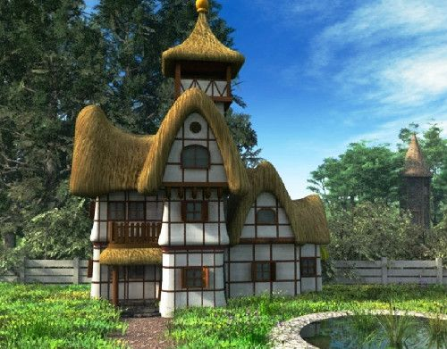 storybook thatched homes, carmel-by-the-sea images | The whimsical Storybook style of architecture made its appearance in ...