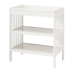 IKEA - GULLIVER, Changing table, , Comfortable height for changing the baby.Practical storage space within close reach. You can always keep a hand on your baby.