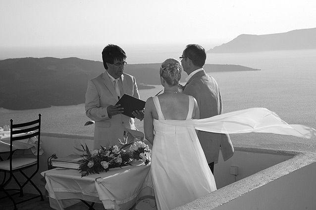 Wedding in Santorini #romantic #wedding #locations #Oia