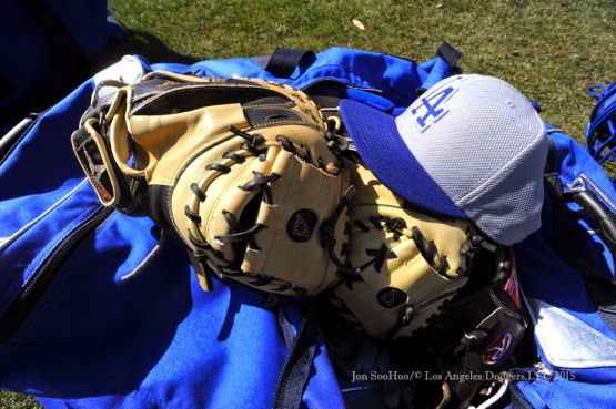 Dodger gear, pic via Jon SooHoo/LA Dodgers 2015