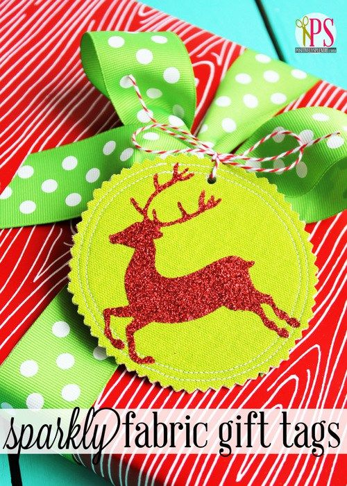 Fabric Gift Tags - with sparkles!