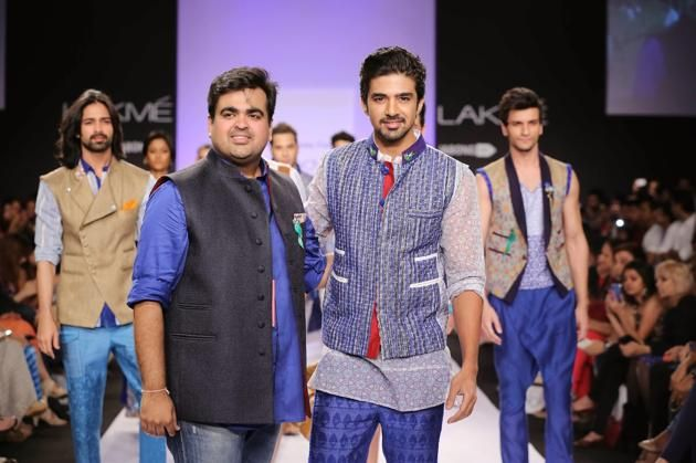 Saqib Saleem walked the ramp for Kumar Anil Tanna