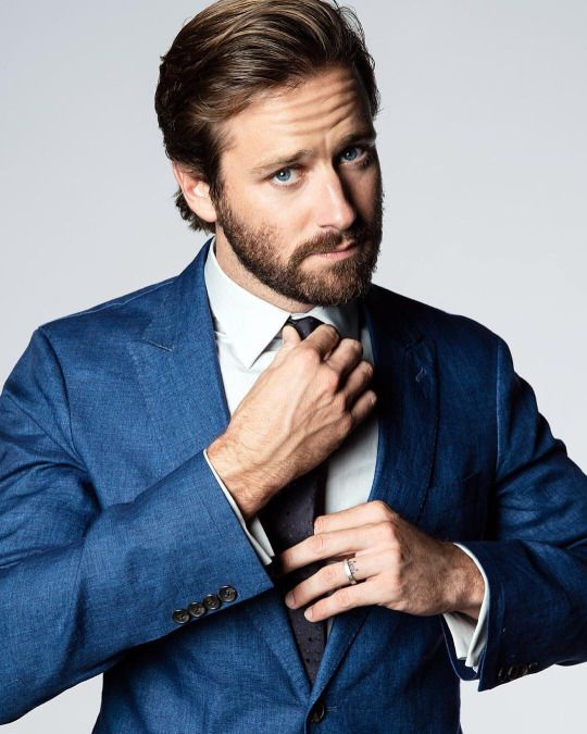 """Armie Hammer = Armie Hammer poses for a portrait to promote the film, """"Call Me By Your Name"""", at the Music Lodge during the Sundance Film Festival on Monday, Jan. 23, 2017, in Park City, Utah  + hair, eyebrows and facial hair."""