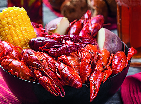 Avoid bland crawfish with a tip from the professionals at The Ritz-Carlton, New Orleans. After the craw-fish have boiled to the top of the pot be sure and re-submerge them. This will ensure that the flavor soaks into the shells.