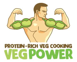 Veg Power Logo design - Ideal for a vegan or vegetarian related business, a nutritionist offering advices for a protein-rich and balanced diet, suitable even for an athlete. Meaningful for a restaurant, catering business, cooking service offering high powering vegetarian food. I combined the shape of a pod with the muscles of a body building man. Beans are the highest source of energy in a diet without meat or animal proteins. Price $420.00