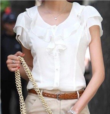 Femme Blanche chemise Soie Femme Chemise En TlFKJc1
