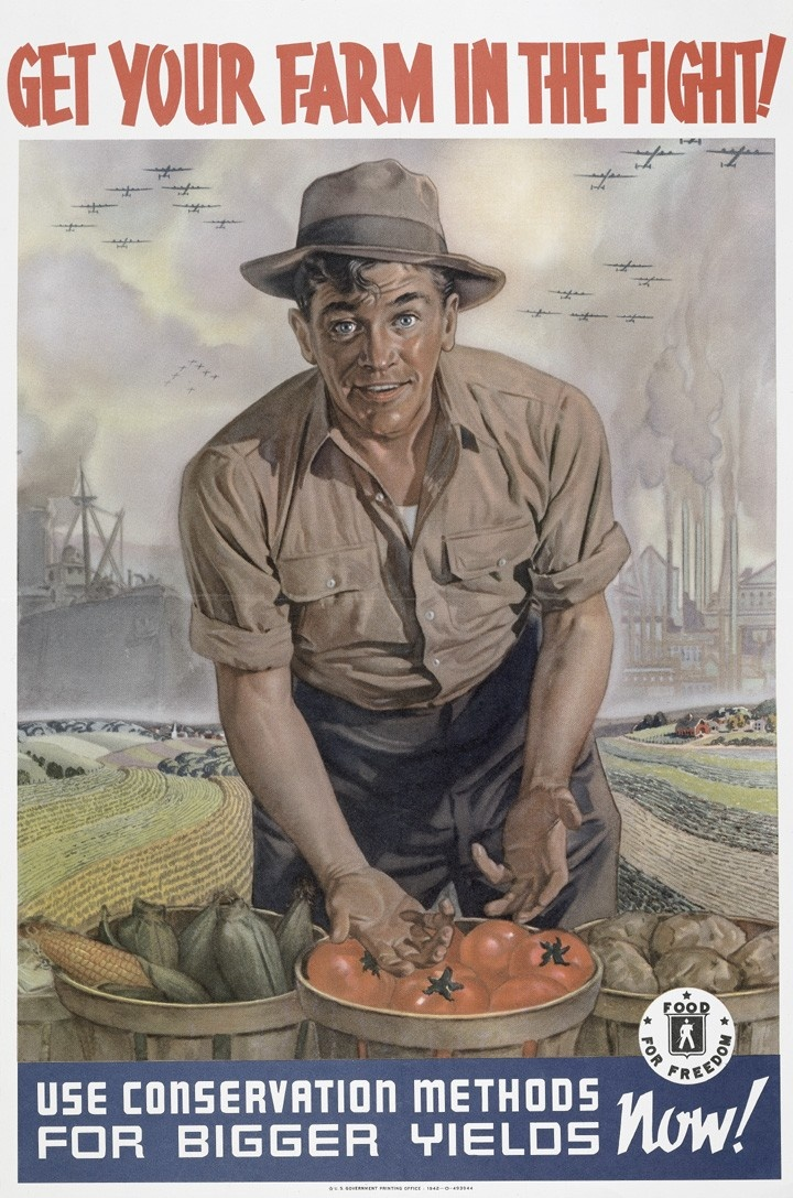 World War II poster, 1942. National Archives, Records of the Secretary of Agriculture