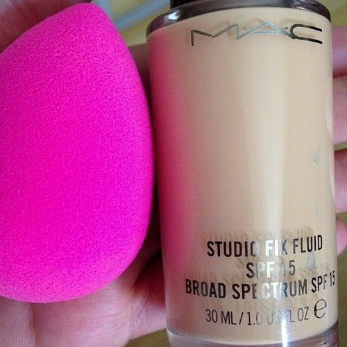 Best combo ever!...Beauty Blender and MAC Studio Fix Fluid foundation (before using these, start off with Benefit POREfessional pore minimizing primer and you'll have a nearly flawless full coverage look)